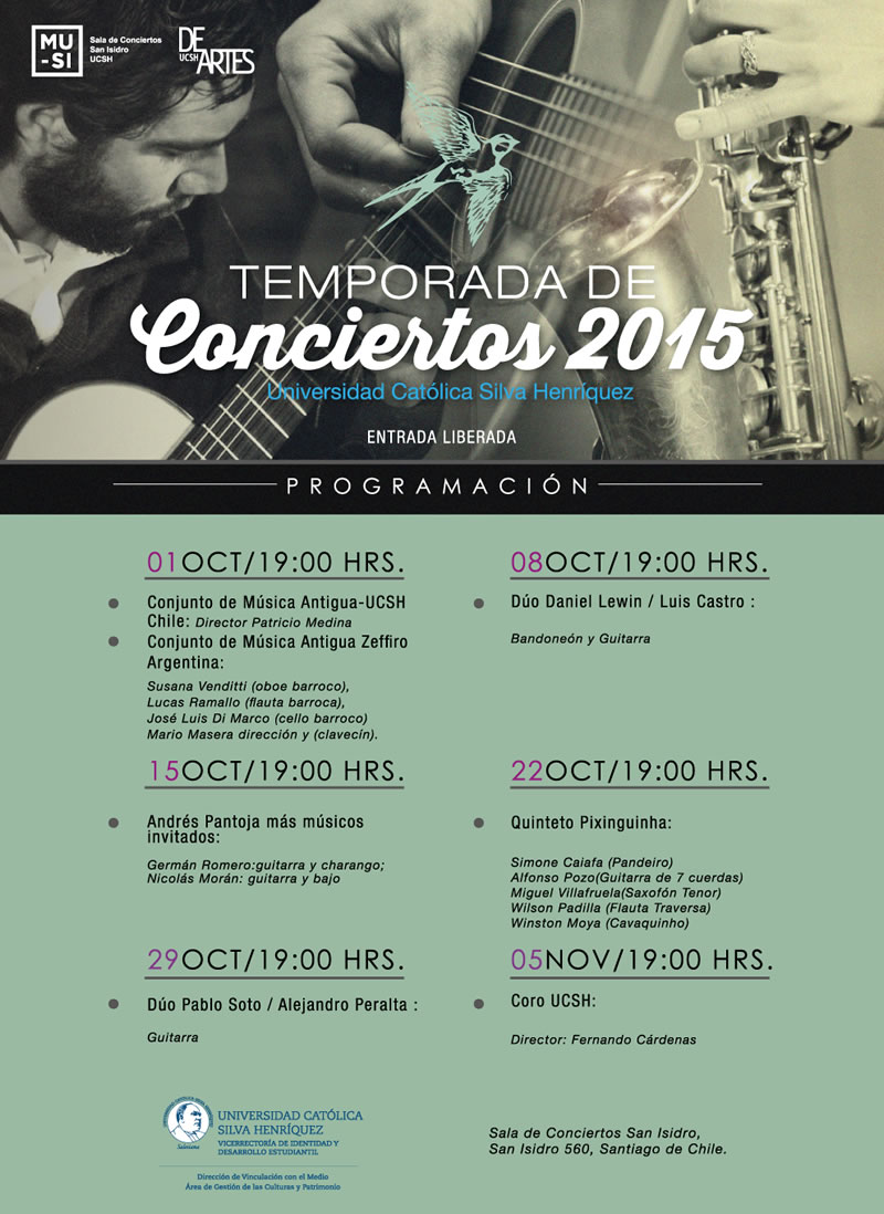 afiche conciertos